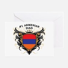Number One Armenian Dad Greeting Card