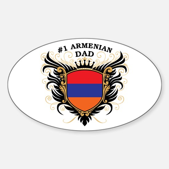 Number One Armenian Dad Oval Decal