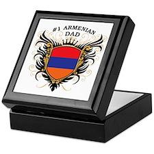 Number One Armenian Dad Keepsake Box