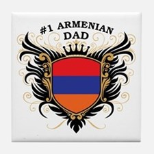 Number One Armenian Dad Tile Coaster