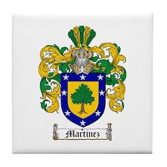 Martinez Family Crest Tile Coaster