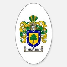 Martinez Family Crest Oval Decal