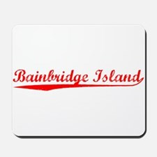 Vintage Bainbridge.. (Red) Mousepad