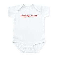 Vintage Bainbridge.. (Red) Infant Bodysuit