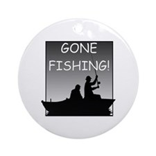 Gone Fishing! Design Ornament (Round)