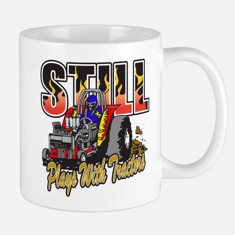 Tractor Pull Still Plays with Tractors Mug