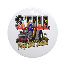 Tractor Pull Ornament (Round)