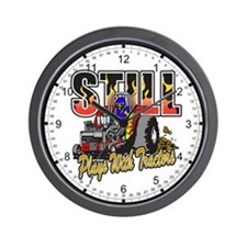 Tractor Pull Still Plays with Tractors Wall Clock