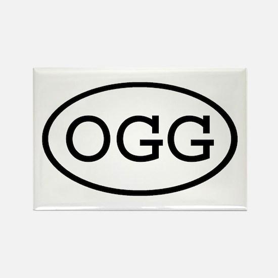 OGG Oval Rectangle Magnet