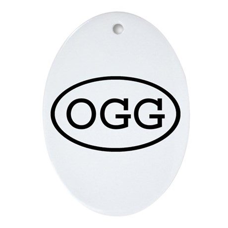 OGG Oval Oval Ornament