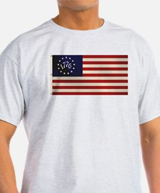 1776 Flag Ash Grey T-Shirt