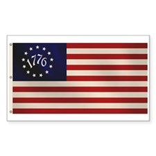 1776 Flag Rectangle Decal