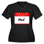 Mud Women's Plus Size V-Neck Dark T-Shirt