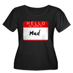Mud Women's Plus Size Scoop Neck Dark T-Shirt