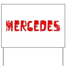 Mercedes Faded (Red) Yard Sign