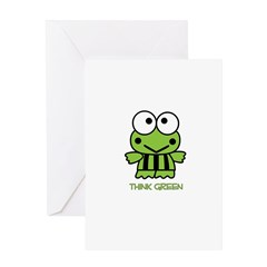 Earth Day - frog Greeting Card