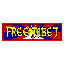 FREE TIBET Bumper Bumper Bumper Sticker
