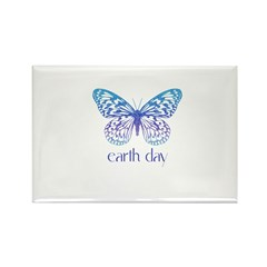 Earth Day - Butterfly Rectangle Magnet (100 pack)