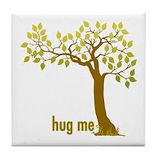 Hug Me TREE (2) Tile Coaster