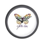 Earth Day - Butterfly Wall Clock