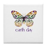 Earth Day - Butterfly Tile Coaster