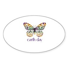 Earth Day - Butterfly Oval Decal