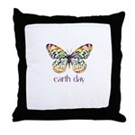 Earth Day - Butterfly Throw Pillow