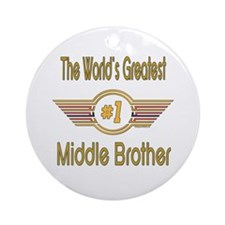 Number 1 Middle Brother Ornament (Round)