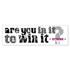 In it to win Bumper Bumper Sticker