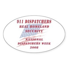 National Dispatchers Week Oval Decal