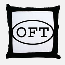 OFT Oval Throw Pillow