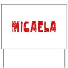 Micaela Faded (Red) Yard Sign