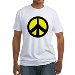 Peace Sign Fitted T-Shirt (yellow/black)