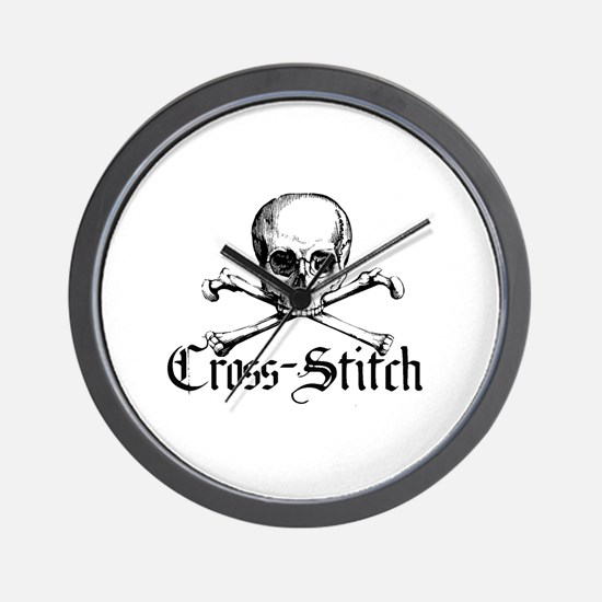 Cross-Stitch - Skull & Crossb Wall Clock