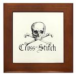 Cross-Stitch - Skull & Crossb Framed Tile