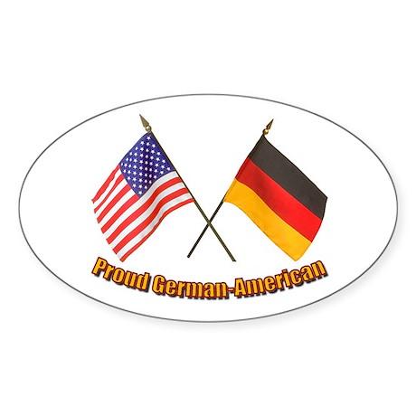 Proud German-American Oval Sticker