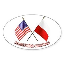 Proud Polish-American Oval Decal