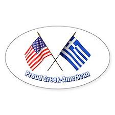 Proud Greek-American Oval Bumper Stickers