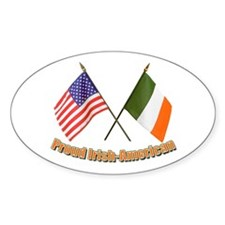 Proud Irish-American Oval Decal
