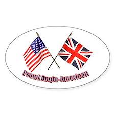 Proud Ango-American Oval Decal