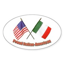 Proud Italian-American Oval Decal