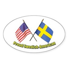 Proud Swedish-American Oval Stickers