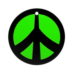 Peace Sign Ornament (green/black)