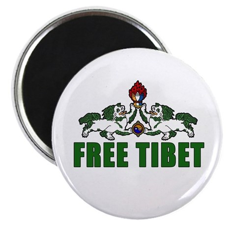 """Free Tibet with Lions 2.25"""" Magnet (10 pack)"""