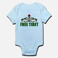Free Tibet with Lions Infant Bodysuit