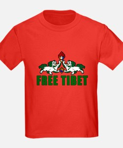 Free Tibet with Lions T