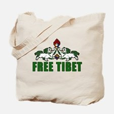 Free Tibet with Lions Tote Bag