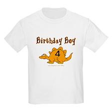 Birthday Boy 4 Dinosaur T-Shirt
