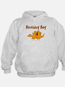 Birthday Boy 4 Dinosaur Hoodie
