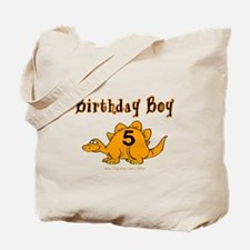 Birthday Boy 5 Dinosaur Tote Bag